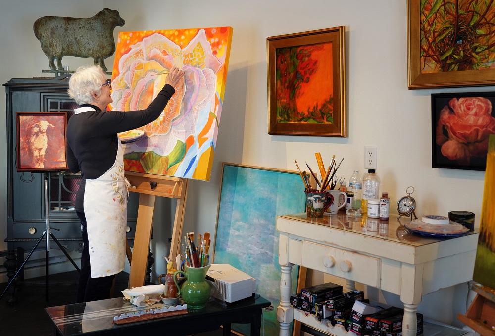 Jacqueline Bergan in her art studio
