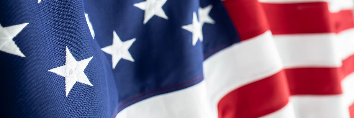 American Flag displayed for Dr. Sarah Beehler Launches Military Transitions Research Study