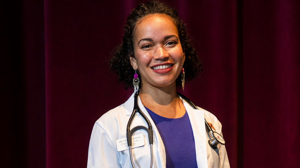 Tegan Carr, a first-year medical student at the Medical School's Duluth campus, talks about how support from the Nancy I. English M.D. ('92) Memorial Scholarship has encouraged her mid-career shift into medicine.