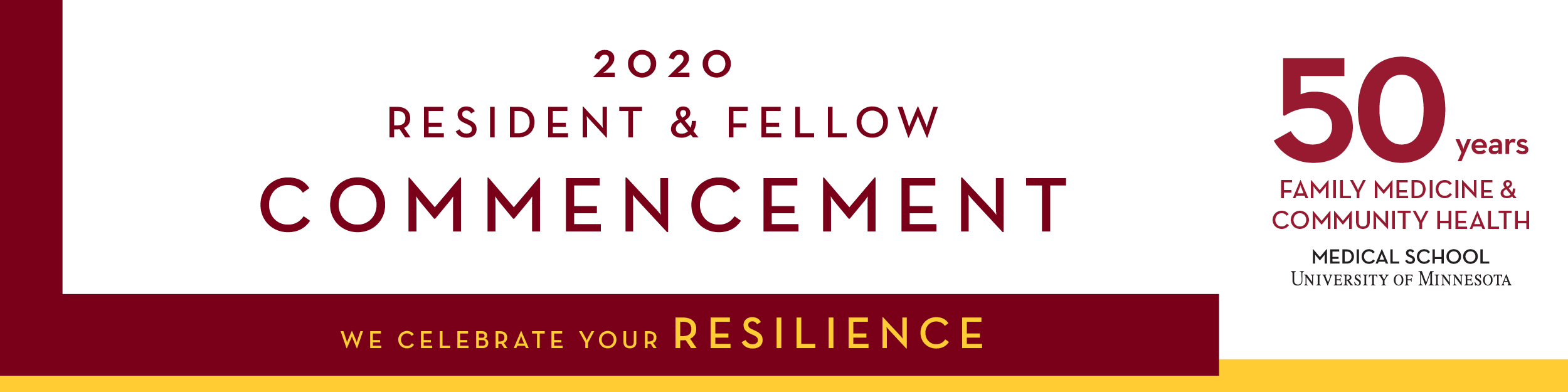 2020 resident and fellow commencement