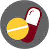Addiction icon of pills