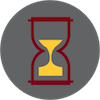 Hourglass aging icon
