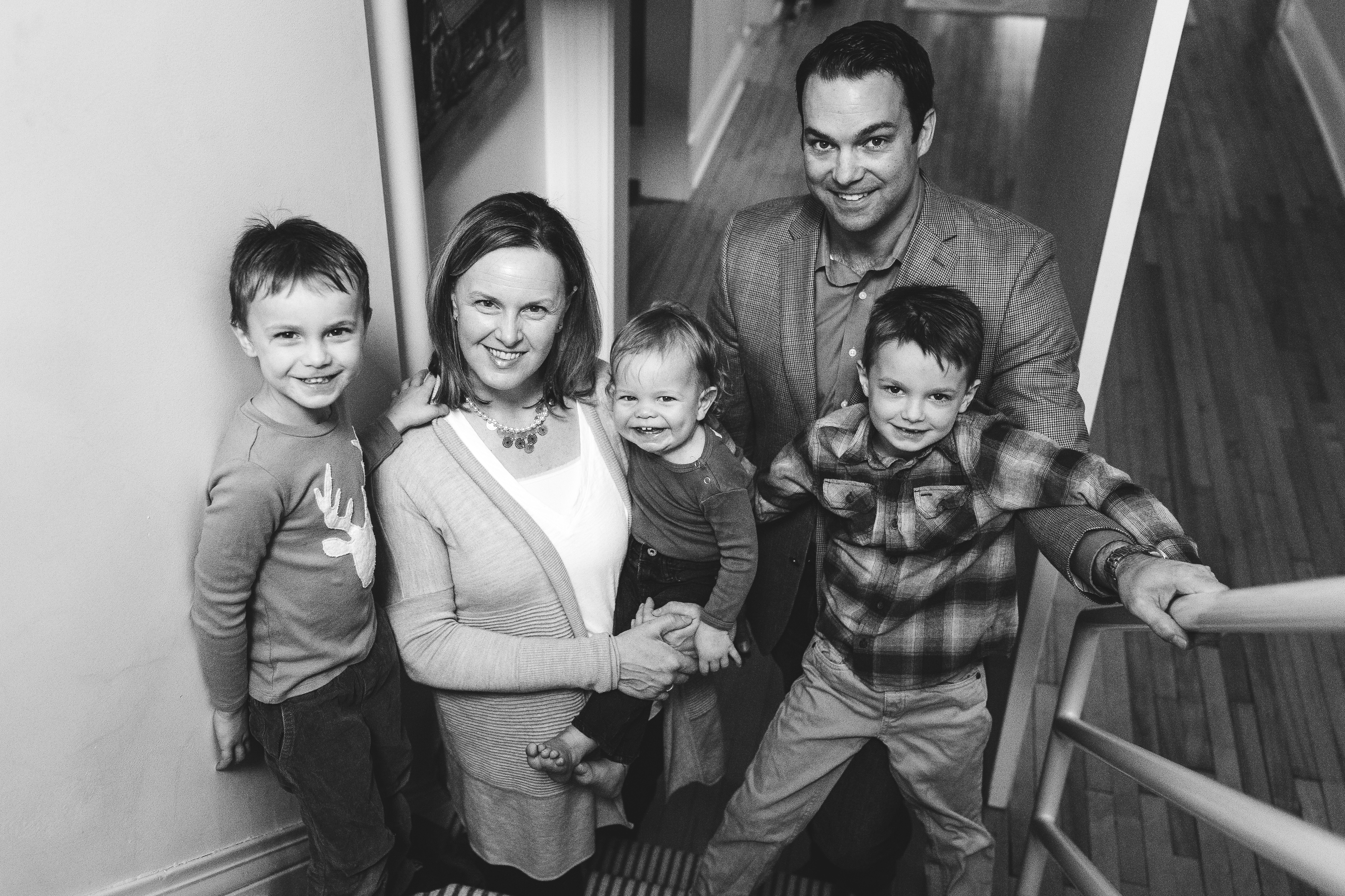 Alicia Harrison, MD, with her family