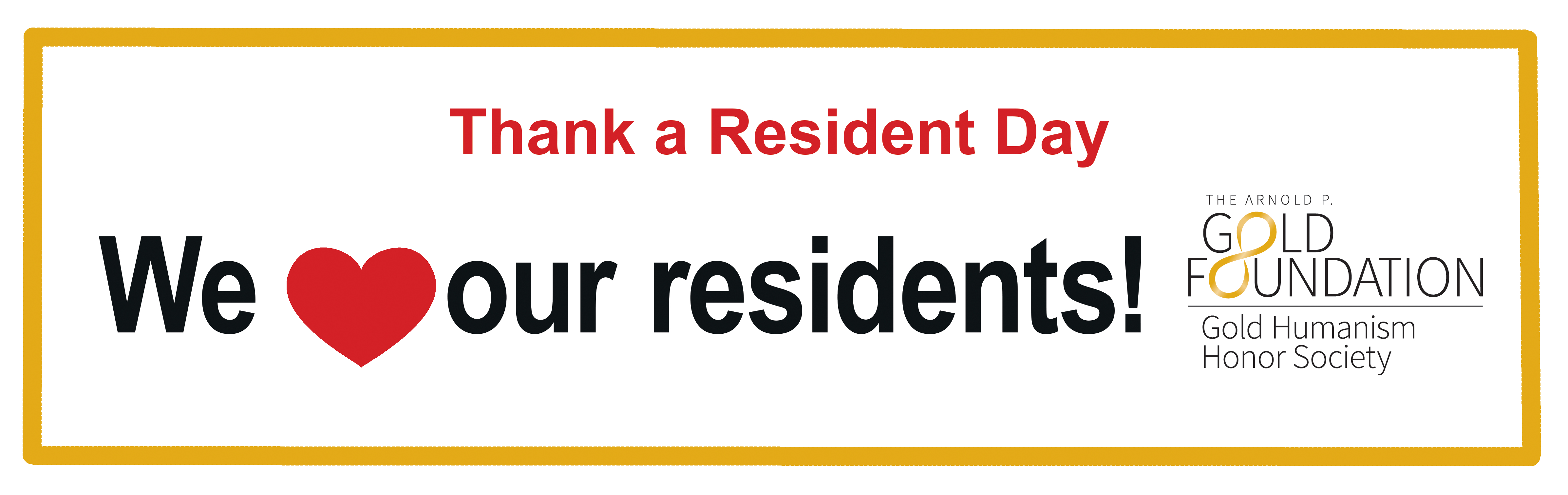 Thank A Resident Day Banner