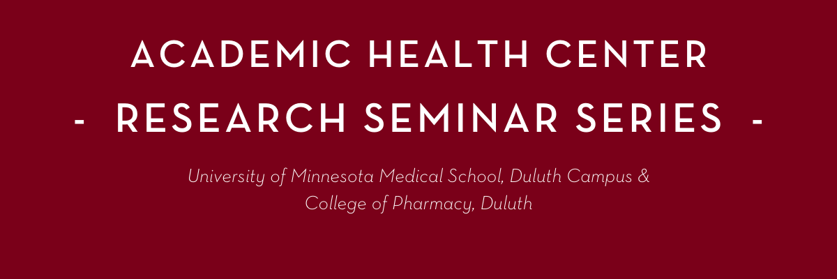 AHC Research Seminar Series with Dr.Olihe Okoro