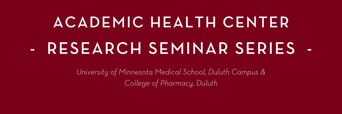 AHC Research Seminar Series