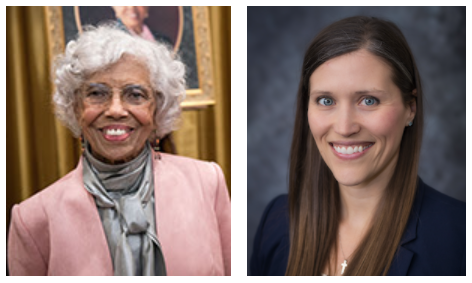 picture of civil rights activist Josie Robinson Johnson, EdD, and Andrea Westby, MD