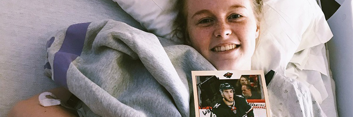 Cassidy Clifton in hospital bed