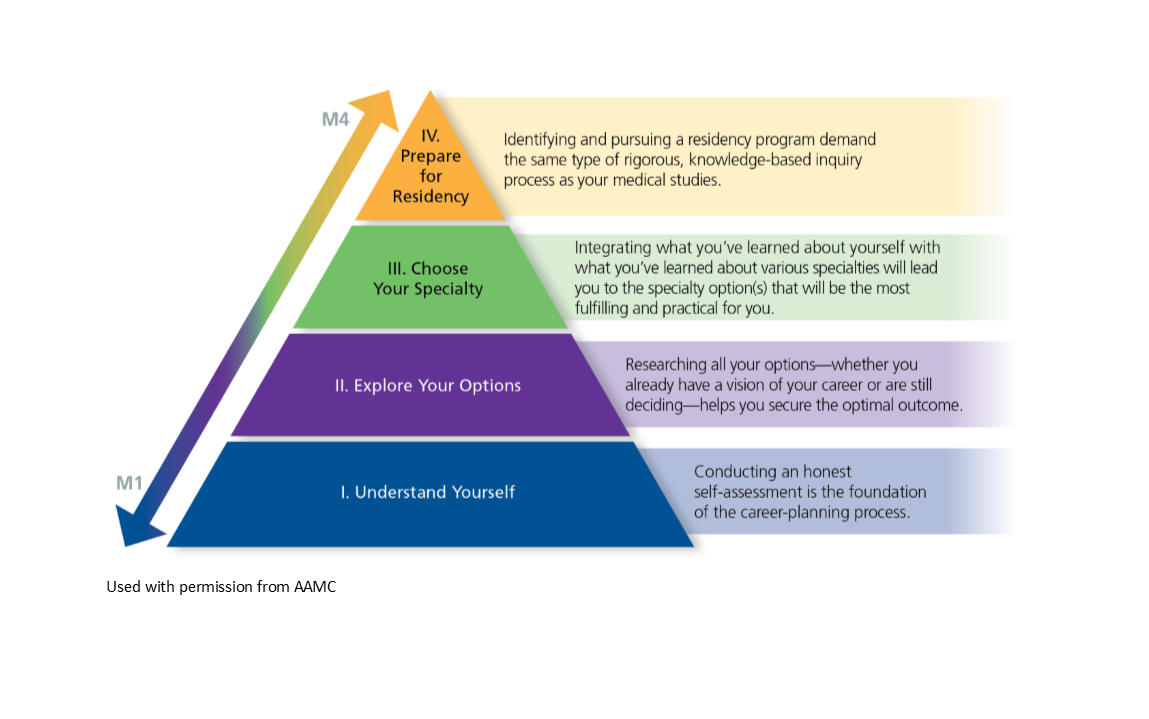 Image of AAMC Careers in Medicine Development Pyramid
