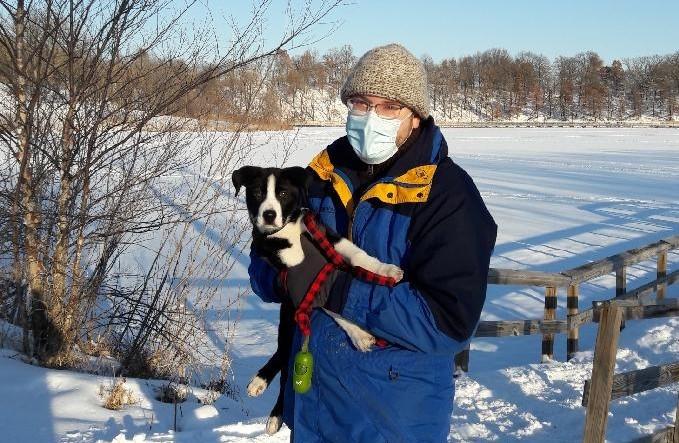 Dr. John Fox and his dog, Kole