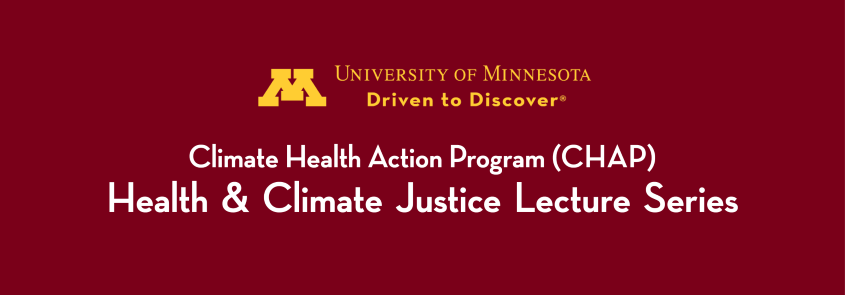 Climate Health Action Program - Climate Justice Lecture Series - Waste Justice