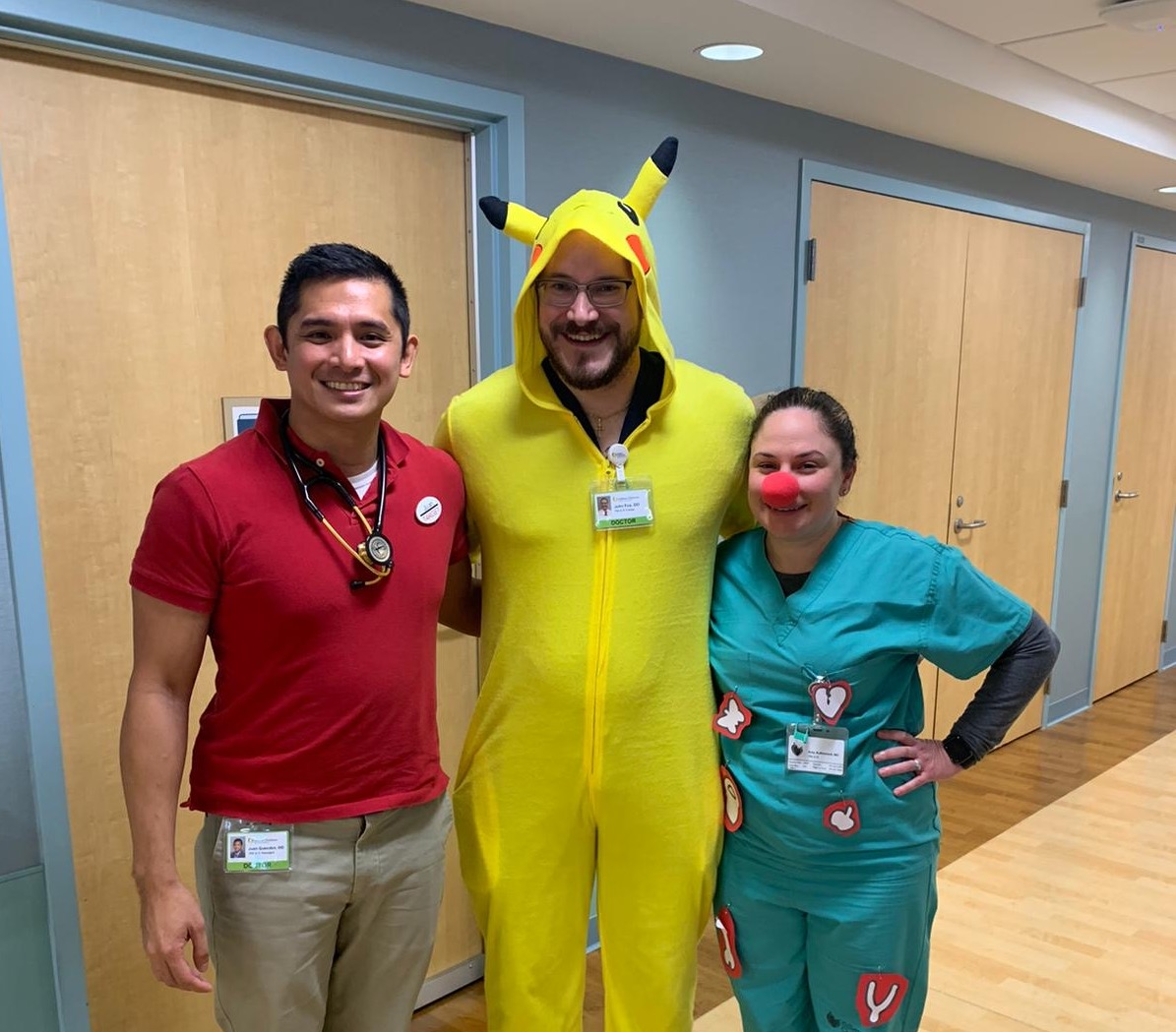 PMR residents and fellows dressed up in costumes.