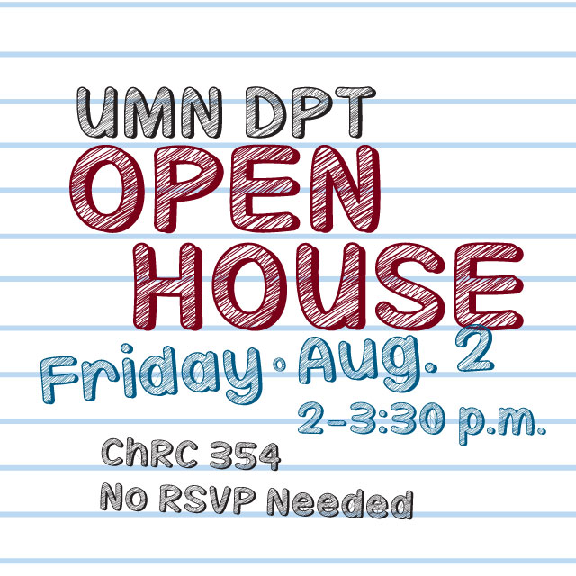 UMN DPT Open House Flyer