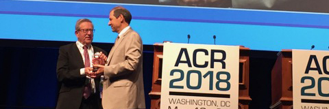 Dr. Nelson receiving the ACR Humanitarian Award