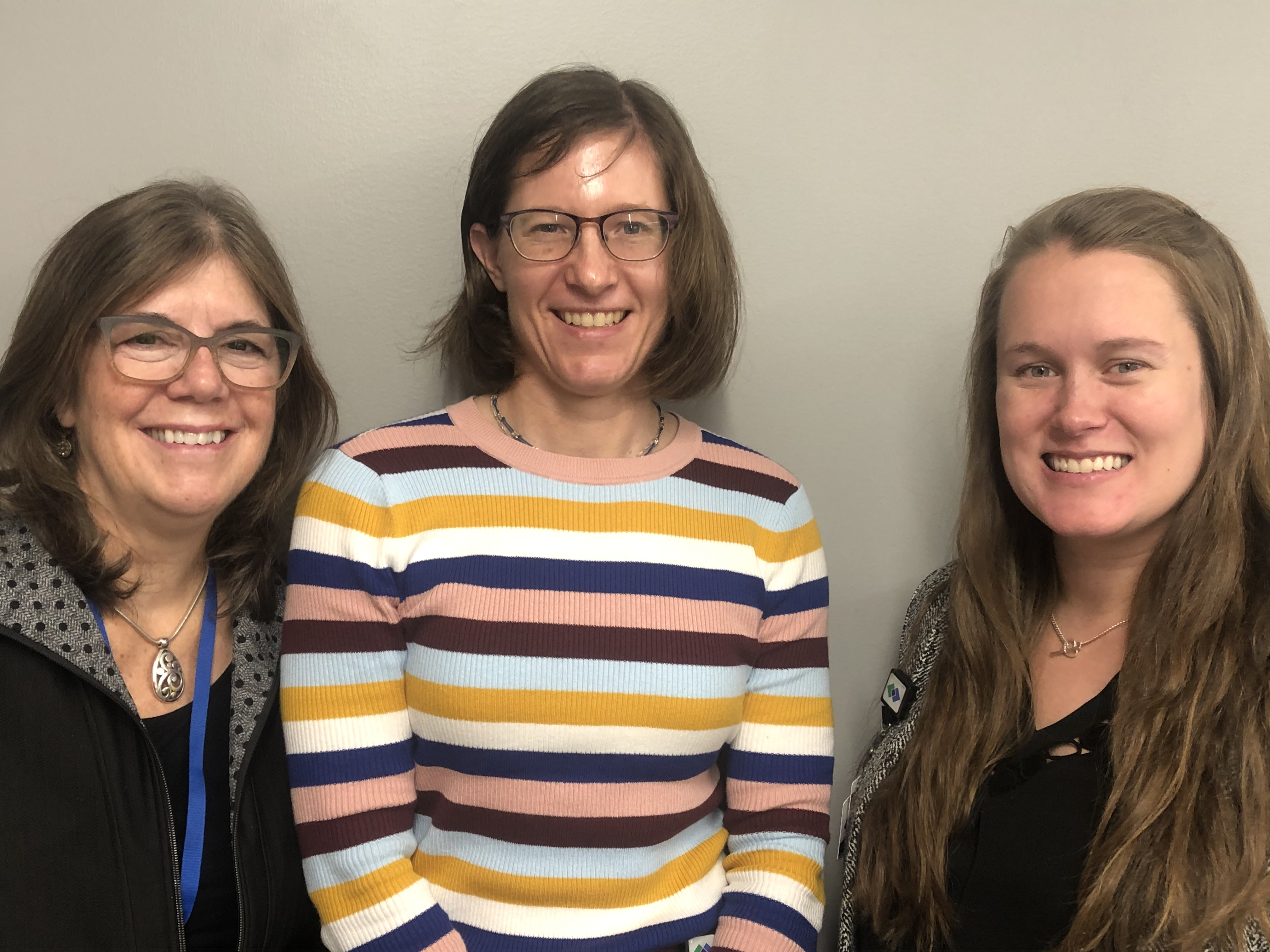 From left to right: Elizabeth Arendt, MD, Heather Cichanowski, MD, and Caitlin Chambers, MD
