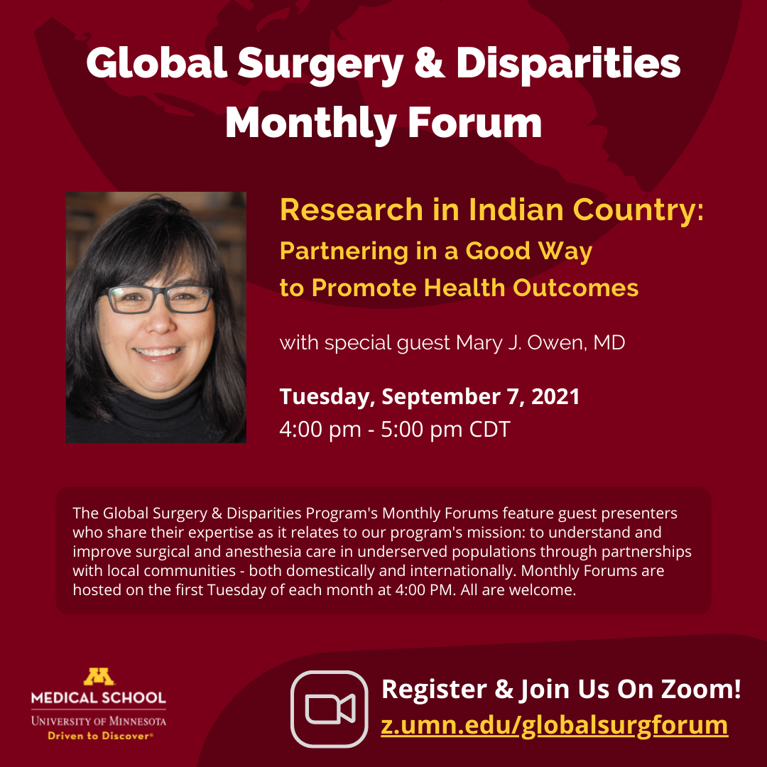 Global Surgery and Disparities Monthly Forum