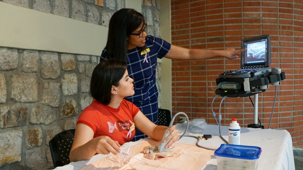 Dr. Hoven in Honduras leading an ultrasound guided biopsy workshop