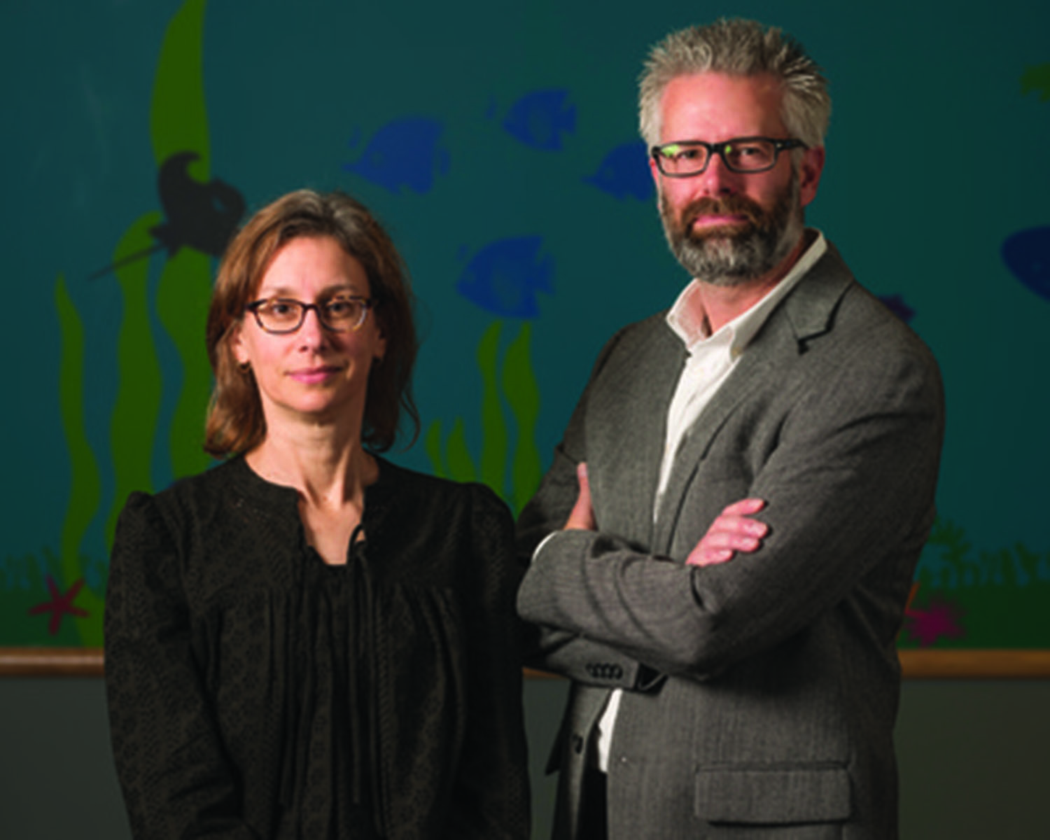 Drs. Claudia Fox and Aaron Kelly