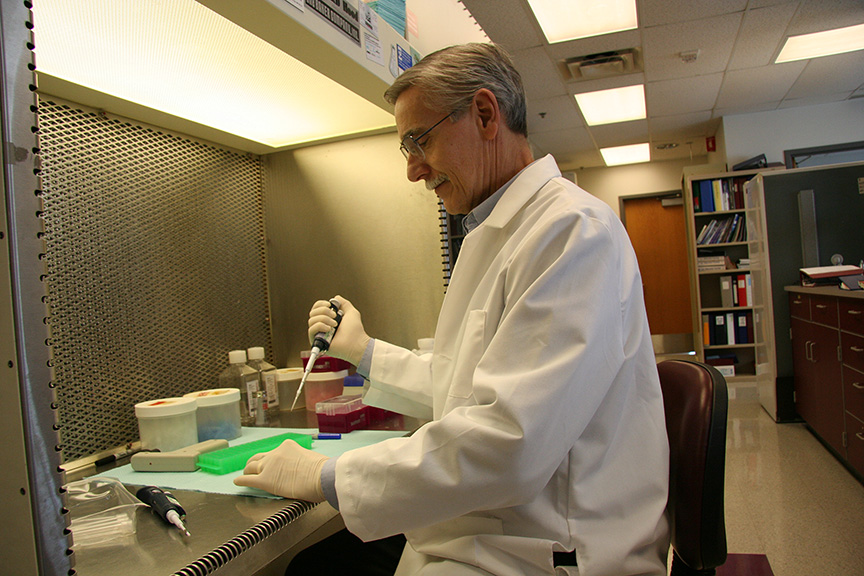 Dale Gregerson in his lab