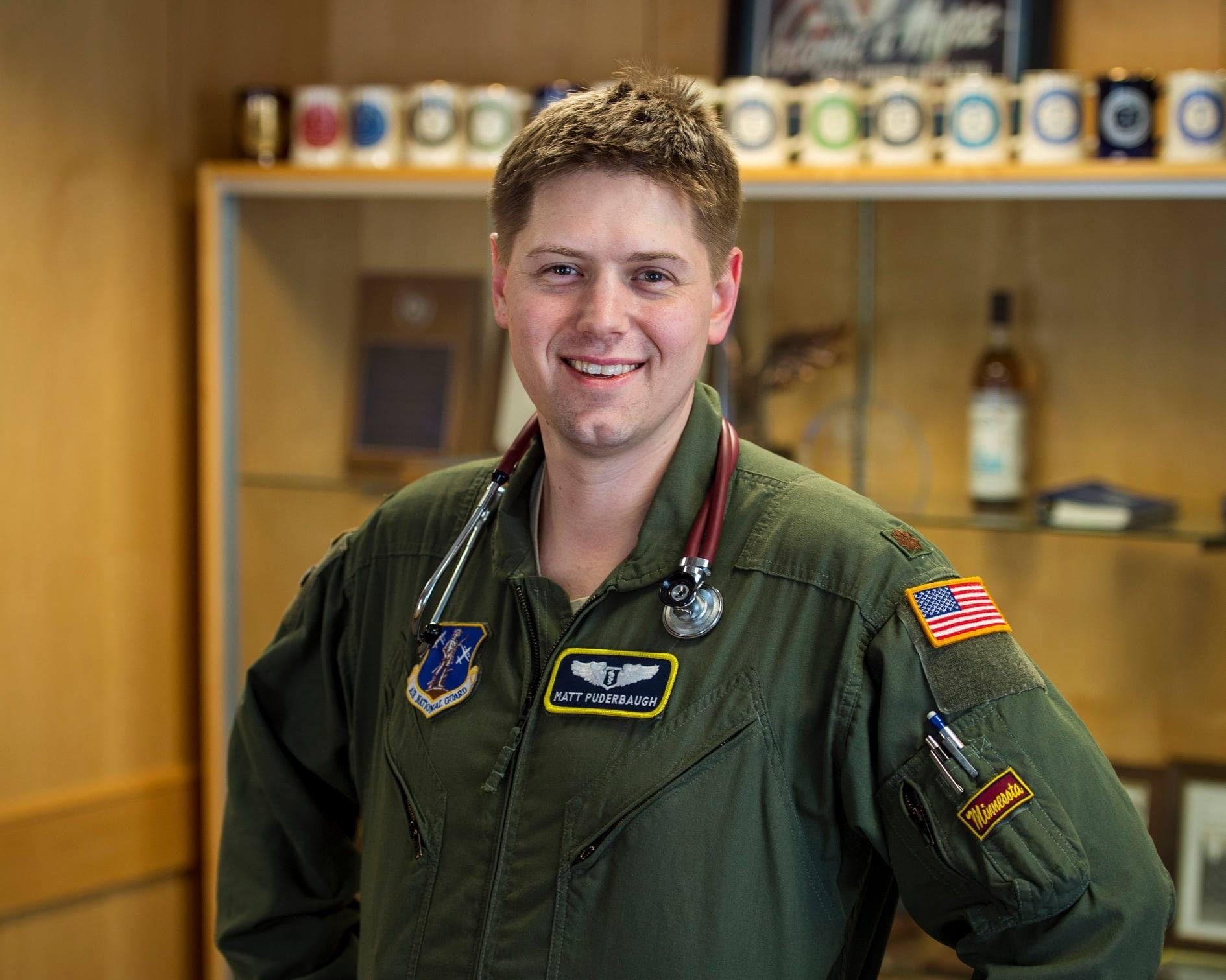 Dr. Matthew Puderbaugh in the National Guard