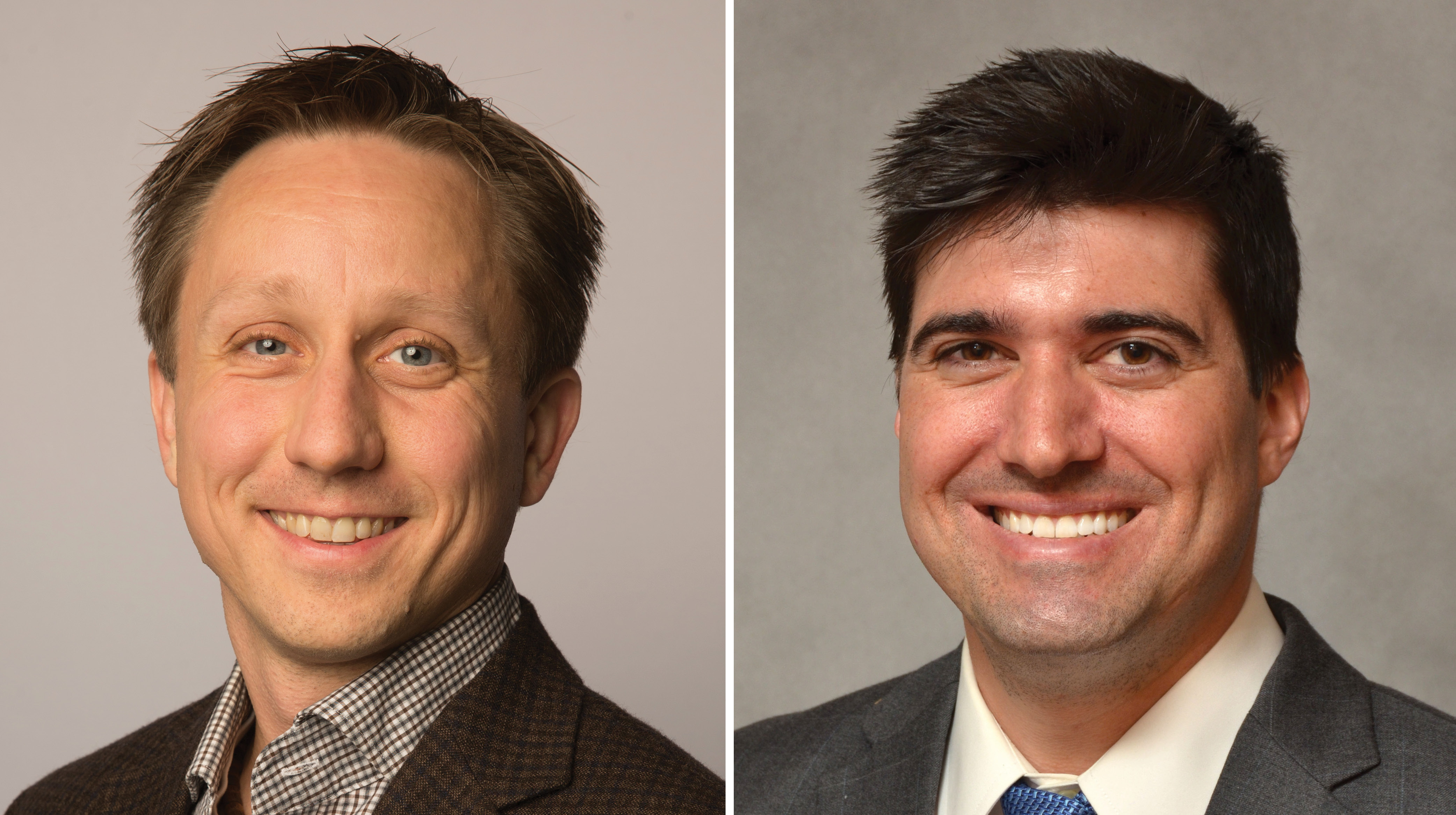 Headshots of Michael Puskarich, MD, and Christopher Tignanelli, MD, MS