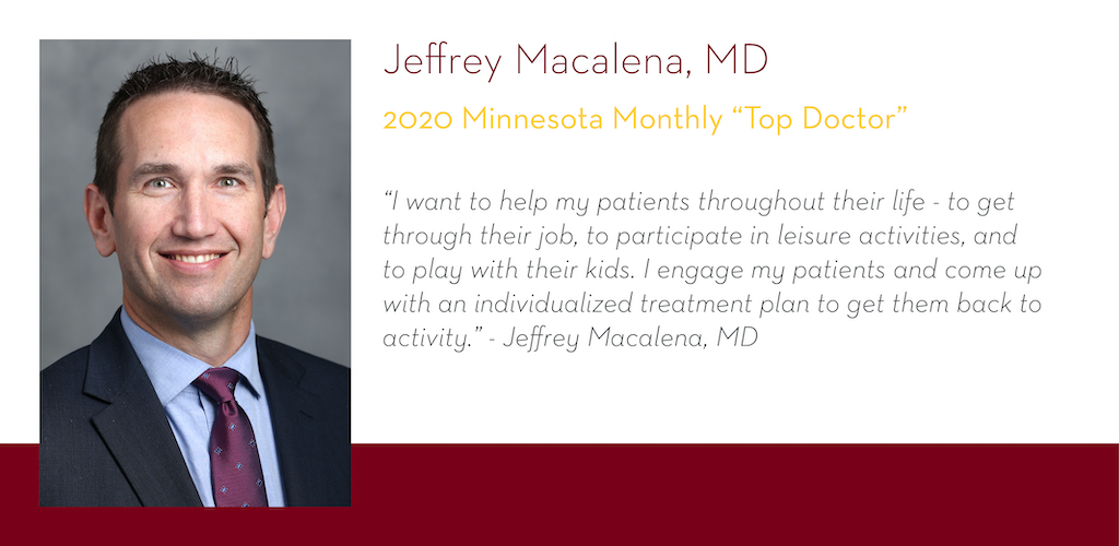 Jeffrey Macalena, MD, 2020 Minnesota Monthly Top Doctor