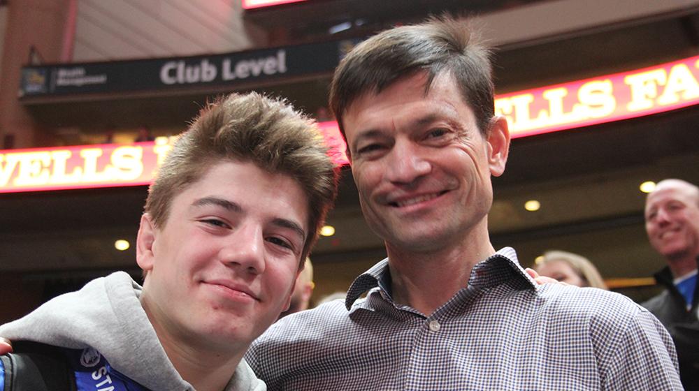 Mark Berg and son