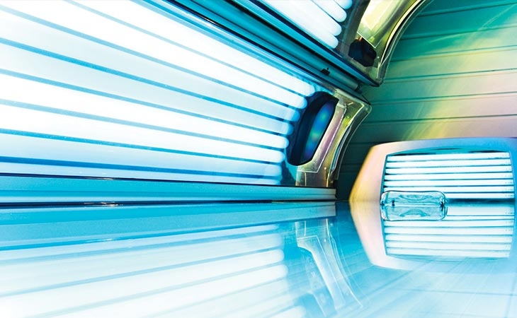 Photo of a tanning bed