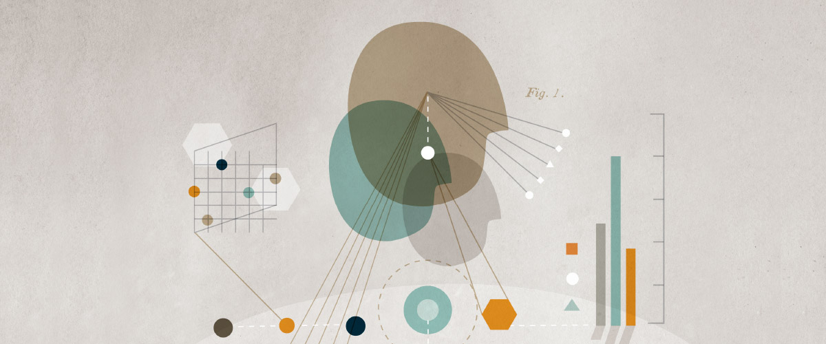 Abstract illustration of a persons head