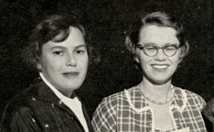 Portrait of Esther Freier, M.S., and Verna Rausch, M.S.