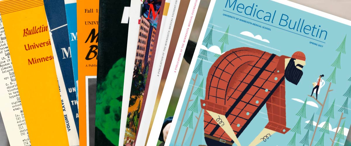 Collage of past medical bulletin covers