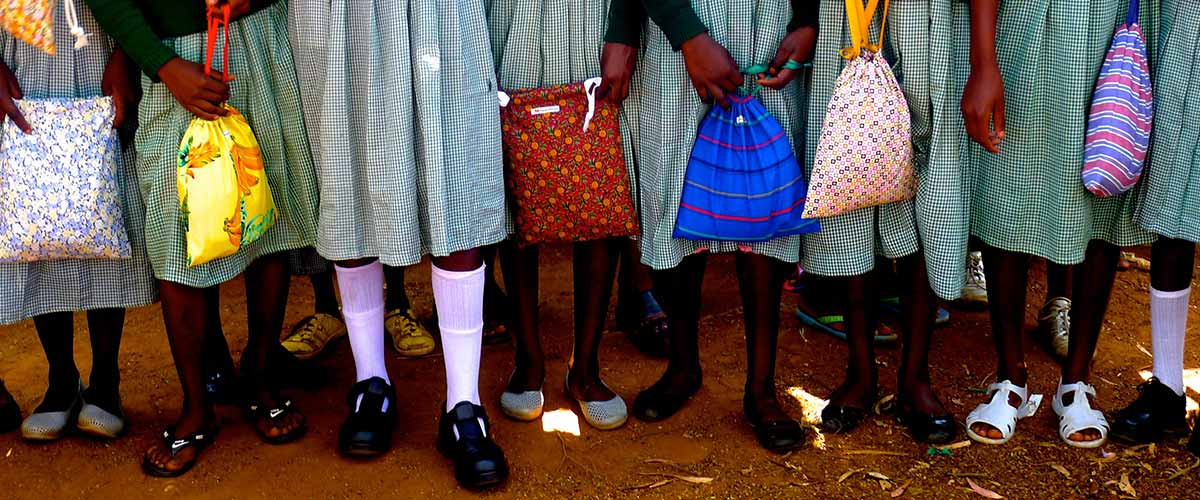 Photo of Kenyan students feet by Robin Sautter.