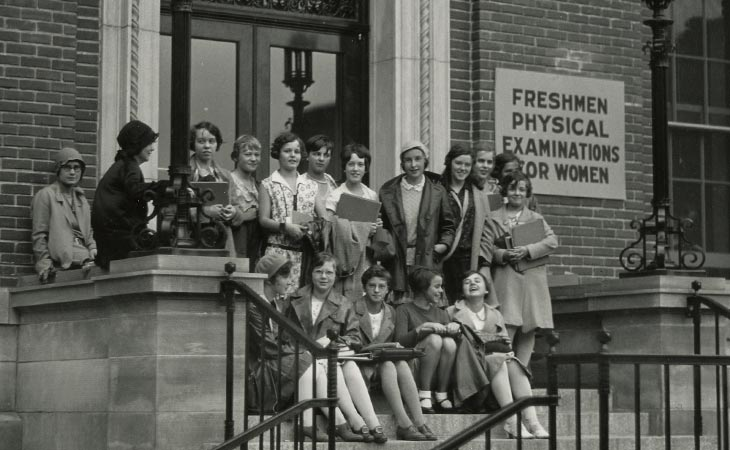 Student Health Services in 1929, the first year this building was open