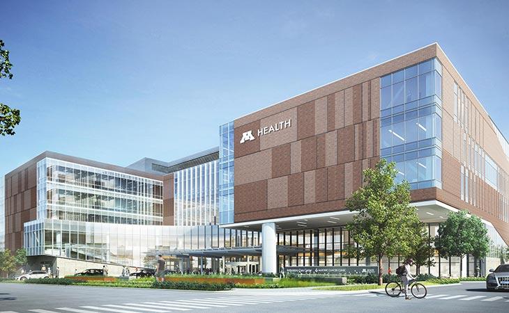 University of Minnesota Health Clinics and Surgery Center, Exterior
