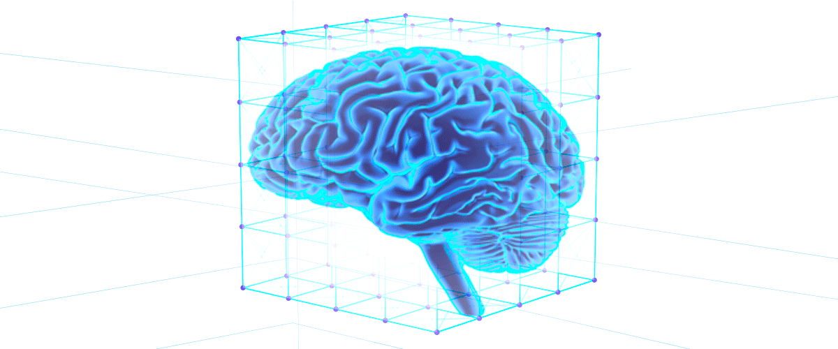 Illustration of a brain in a box