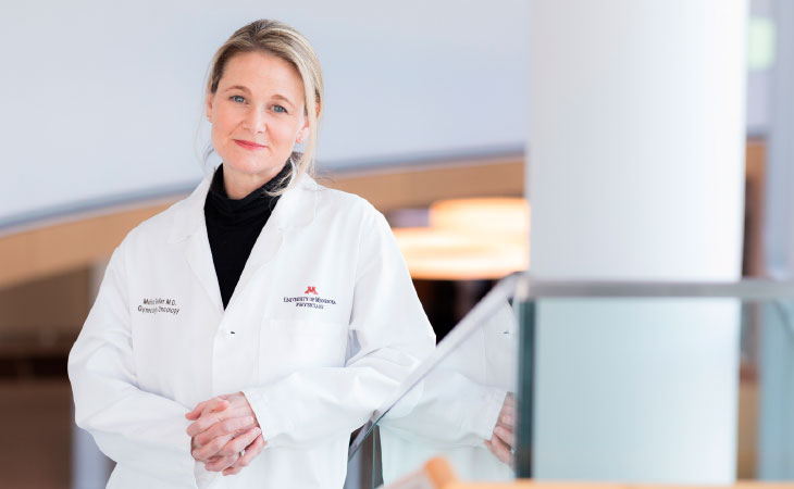 Melissa Geller, M.D., leads two clinical trials using natural killer cell–based immunotherapy to knock out recurrent ovarian cancer.