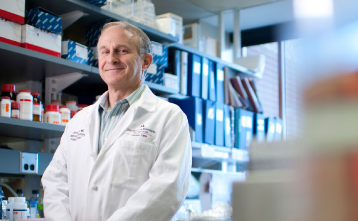 Jeffrey Miller, M.D., has found success in employing natural killer cells against blood cancers and is  hoping the success translates to solid tumors like ovarian cancer as well.
