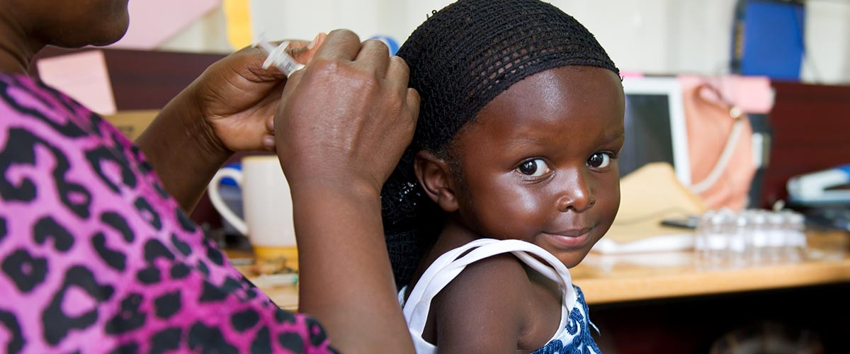 African child getting vaccinated