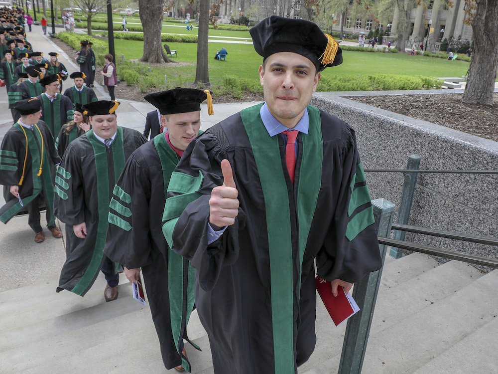 MD graduate gives thumbs up