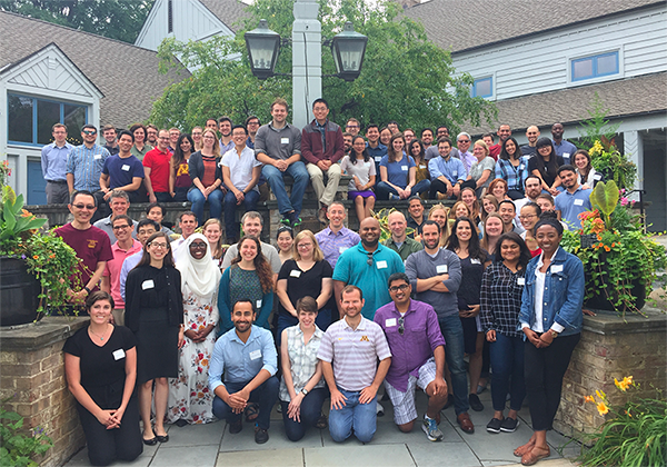 Group photo of attendees at the 2017 Univeristy of Minnesota Medical Scientist Training Program annual retreat.