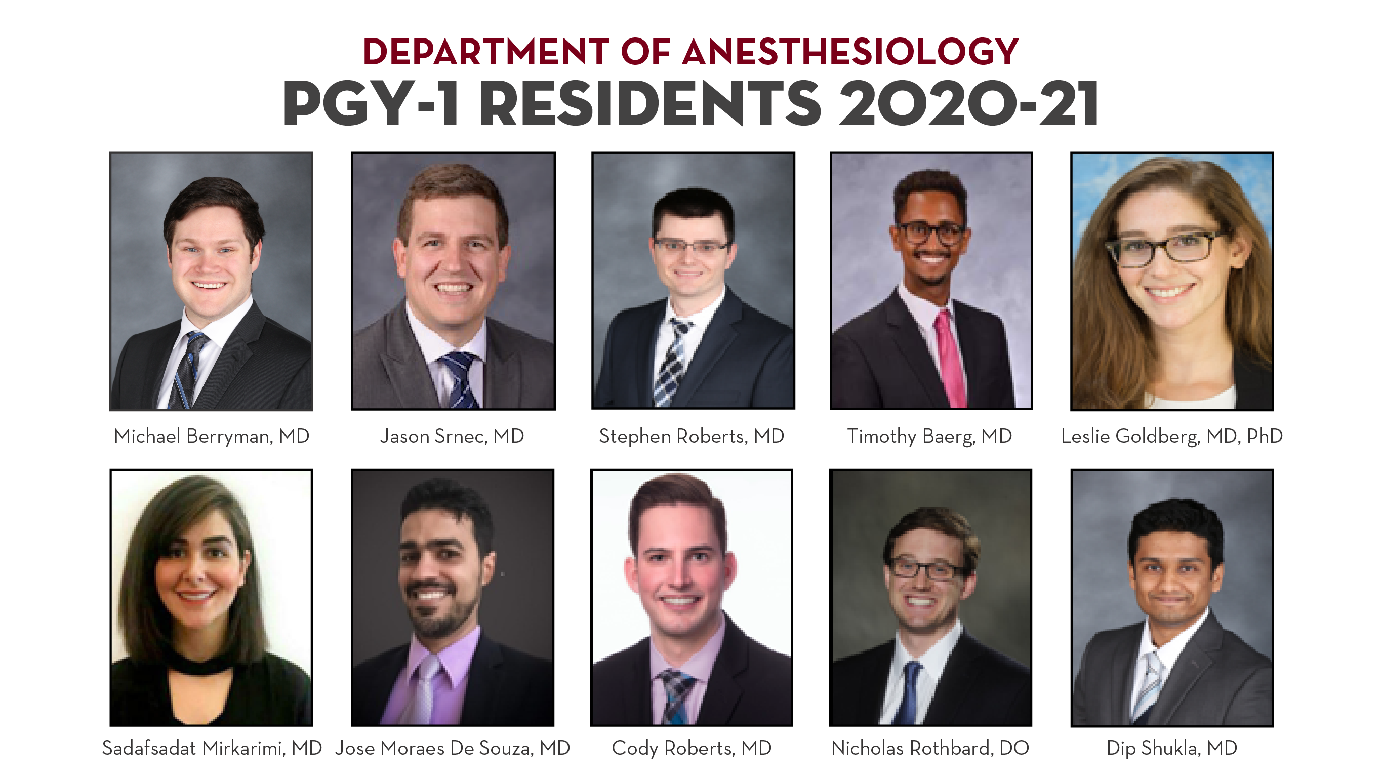 pgy1 residents