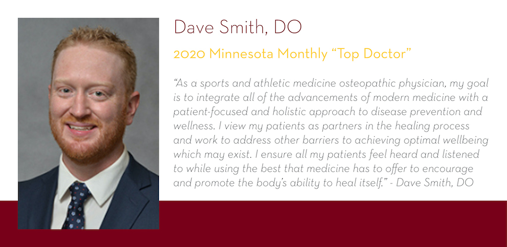 David Smith, DO, 2020 Minnesota Monthly Top Doctors