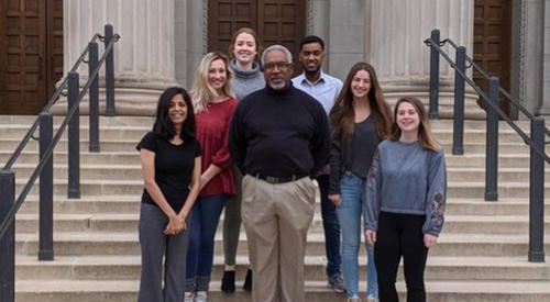 Integrative Biology & Physiology Students and Professor