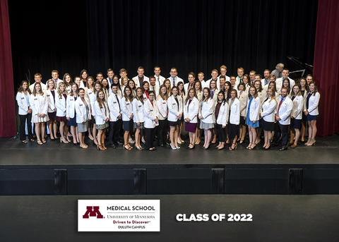 Duluth Campus students after receiving their white coat