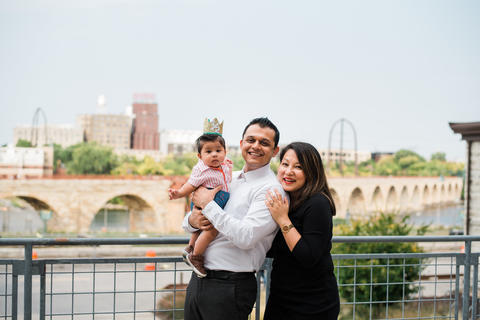 PMR resident Dr. Akhil Shori with his wife and child.