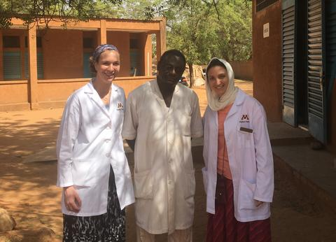 Physical therapy student's international experience with faculty.
