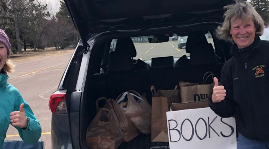 Students and Faculty Members Host Successful Book Drive During COVID-19