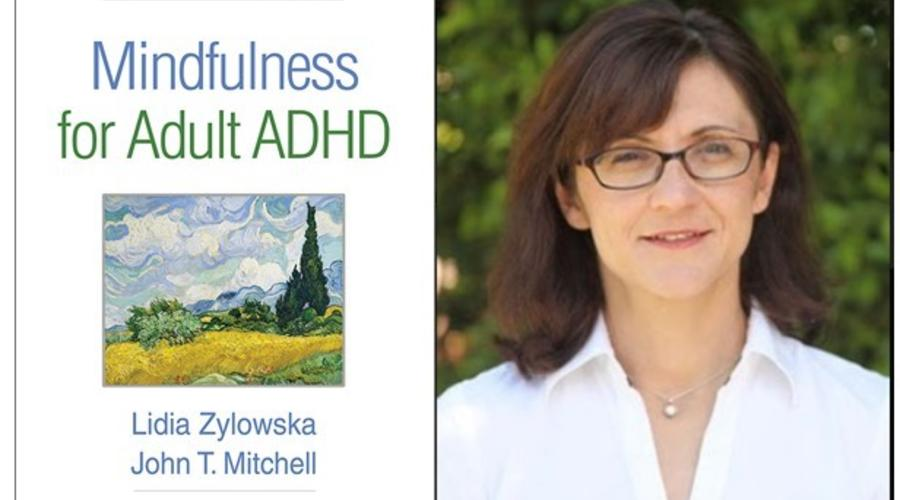 Author Lidia Zylowska and her new book about ADHD