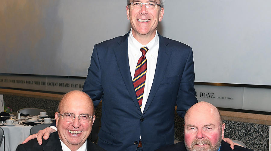 Current head of the Department of Family Medicine and Community Health with two former department heads