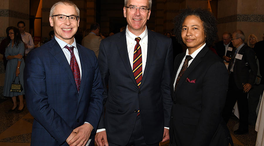 Dr. Jakub Tolar, Dr. Jim Pacala, and Dr. Renee Crichlow